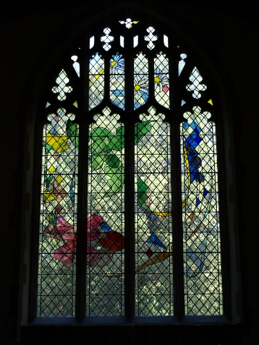 image of Mellis church east window